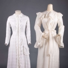 TWO LADIES MORNING ROBES, LATE 19th C
