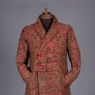 MANS WOOL PAISLEY DRESSING GOWN, 1870-1880s