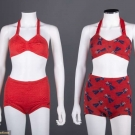 TWO LADIES TWO PIECE SWIMSUITS, 1935-1945