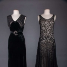 TWO BLACK EVENING GOWNS, 1930s