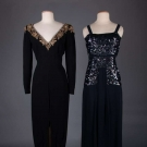 TWO EVENING GOWNS, EARLY 1940s
