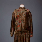PRINTED PANNE VELVET PARTY DRESS, 1920s