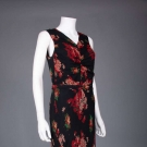 PRINTED CHIFFON GOWN & JACKET, 1930s