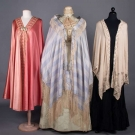 THREE SILK EVENING WRAPS, 1880-1910