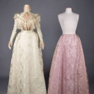 TWO SILK BROCADE LADIES GARMENTS, LATE  1890s