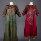 TWO EMBROIDERED SILK DRESSES, PAKISTAN, EARLY 20th C