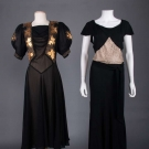 TWO BLACK EVENING DRESSES, 1930s