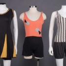 THREE SWIMSUITS & ONE BEACH TOWEL, 1920-1930s