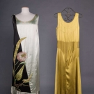 TWO SILK EVENING GOWNS, 1920-1930s