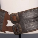 WIDE LEATHER & METAL ETHNIC BELT