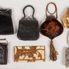 SEVEN SMALL LEATHER HANDBAGS, 1880-1920