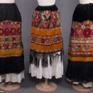 THREE FLORAL EMBROIDERED APRONS, HUNGARY, EARLY 20TH C