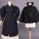 TWO LADIES WOOL OUTER GARMENTS, MID 1890s