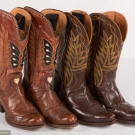 TWO PAIR COWGIRL BOOTS, 1930-1950