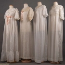 FOUR LACE & COTTON LAWN NEGLIGEES, EARLY 20TH C
