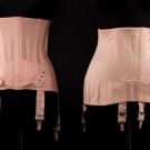 SEVEN PINK GIRDLES, FRANCE, MID 20TH C