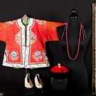 GARMENTS, MANDARIN NECKLACE & EMBROIDERED PANEL, CHINA