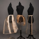 THREE LADIES BUSTLES, 1870-1880s