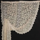 PAIR OF HANDMADE LACE CURTAIN PANELS, EARLY 20TH C