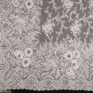 PAIR TAMBOUR LACE CURTAINS, EARLY 20TH C