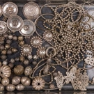 SILVER BUTTONS & BEADS, CENTRAL ASIA, EARLY-MID 20TH C