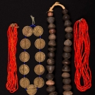 FOUR NECKLACES, AFRICA, 20TH C