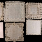 EIGHT LACE TRIMMED HANKIES, 19TH C