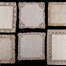 TEN LACE TRIMMED HANKIES, 19TH C