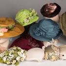 LADIES HATS, 19TH & 20TH C