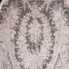 HANDMADE LACE SHAWL, 19TH C