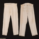 TWO PAIR GENTS LINEN TROUSERS, 1800-1860s