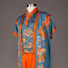 EMBROIDERED LOUNGING PAJAMAS, CHINA, 1930s