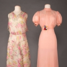 TWO CHIFFON TEA GOWNS, 1930s