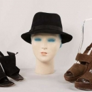 TWO PAIR KATHARINE HEPBURN SANDALS & ONE BOATER HAT, ENGLAND, MID 20TH C