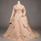 SILK FAILLE VISITING GOWN, c. 1870