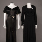 TWO BLACK DRESSES, 1930s