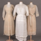 THREE EMBROIDERED OR LACE TEA GOWNS, ITALY, 1912-1917