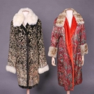TWO FUR TRIMMED EVENING COATS, 1920s