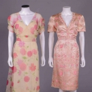 TWO PINK IRENE DAY DRESSES, AMERICA, 1950 & 1952