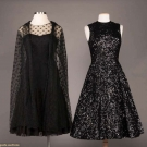 TWO BLACK MAINBOCHER EVENING DRESSES, AMERICA, 1950-1960s