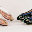 TWO PAIR LADIES SLIPPERS, CHINA, EARLY 20th C