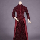 CISELE VELVET AFTERNOON GOWN, c. 1883