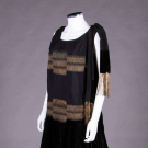 BLACK CREPE & LAMÉ EVENING DRESS, 1920s