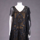 GEORGETTE & GOLD LAME PARTY DRESS, 1920s