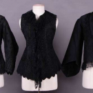 THREE BLACK SOUTACHE EMBROIDERED JACKETS, 1860s