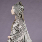 QUILTED SILK SATIN EVENING COAT, c. 1860