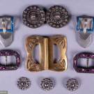 ASSORTMENT OF SHOE & DRESS ORNAMENTS, EARLY 20TH C & 1820-1830s