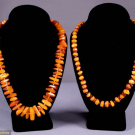 TWO NATURAL BALTIC AMBER NECKLACES
